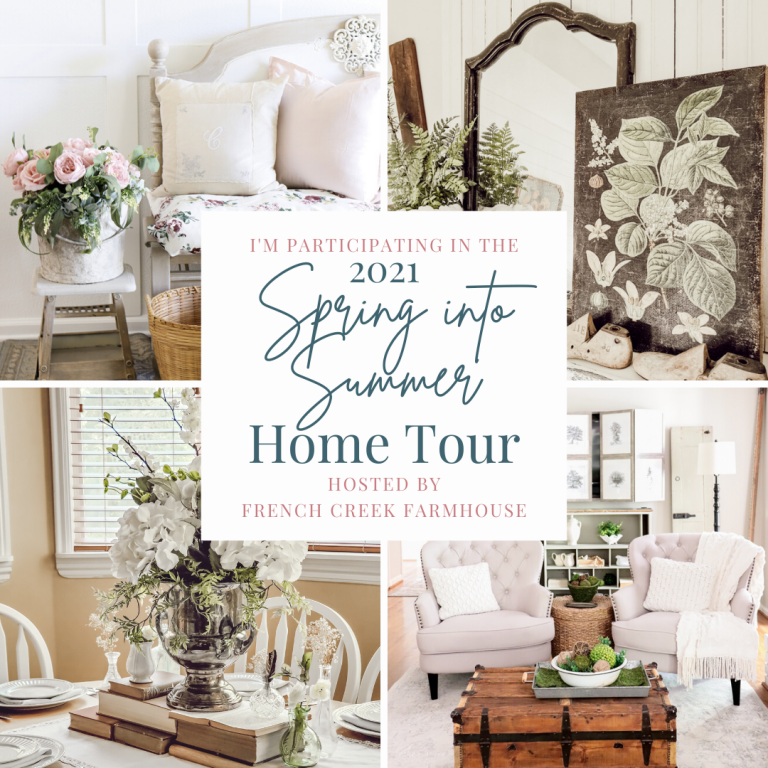 Spring to Summer Mantle Decor