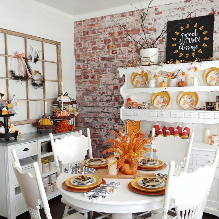 Falloween Dining Room Tour with a Napkin Ring Tutorial